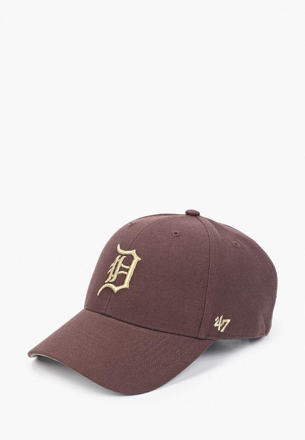женская бейсболка '47 brand, коричневая