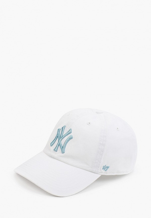 женская бейсболка '47 brand, белая