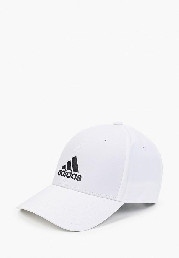 женская бейсболка adidas, белая