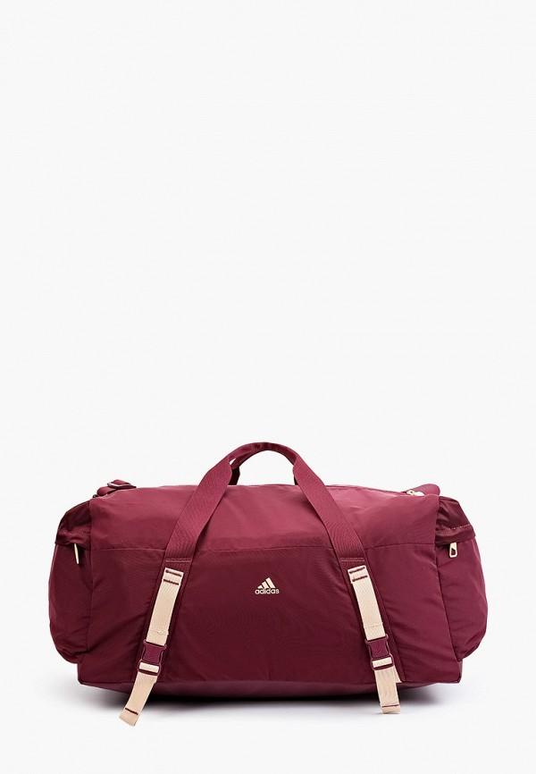 женская спортивные сумка adidas, бордовая