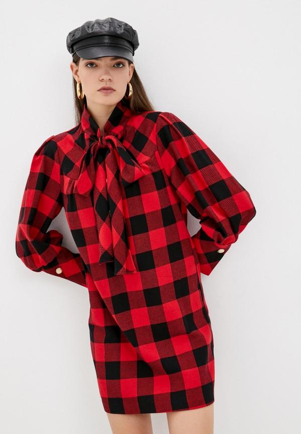 женское платье-рубашки silvian heach, красное