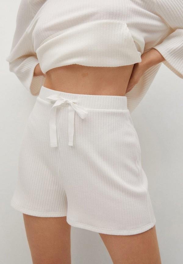 женские повседневные шорты mango, белые