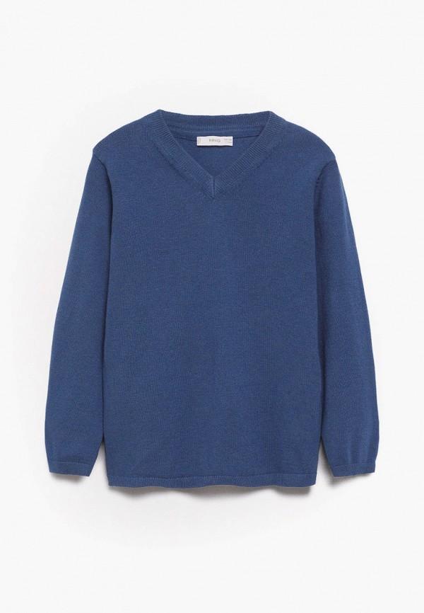 пуловер mango kids для мальчика, синий