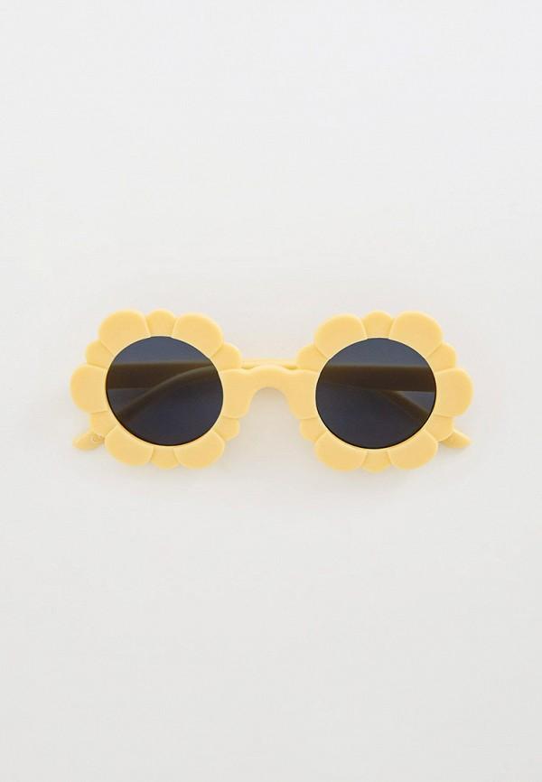 солнцезащитные очки mango kids для девочки, бежевые