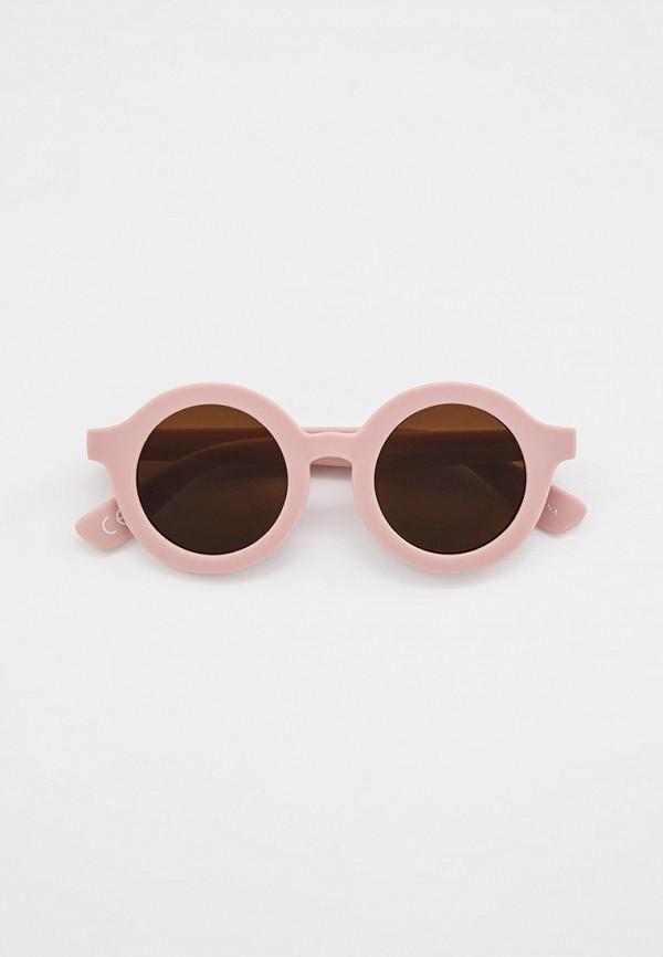 солнцезащитные очки mango kids для девочки, розовые
