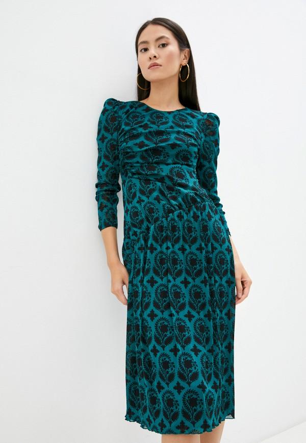 Платье Diane von Furstenberg зеленого цвета