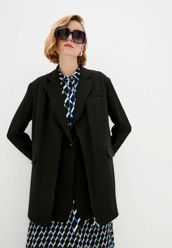 женский пиджак diane von furstenberg, черный