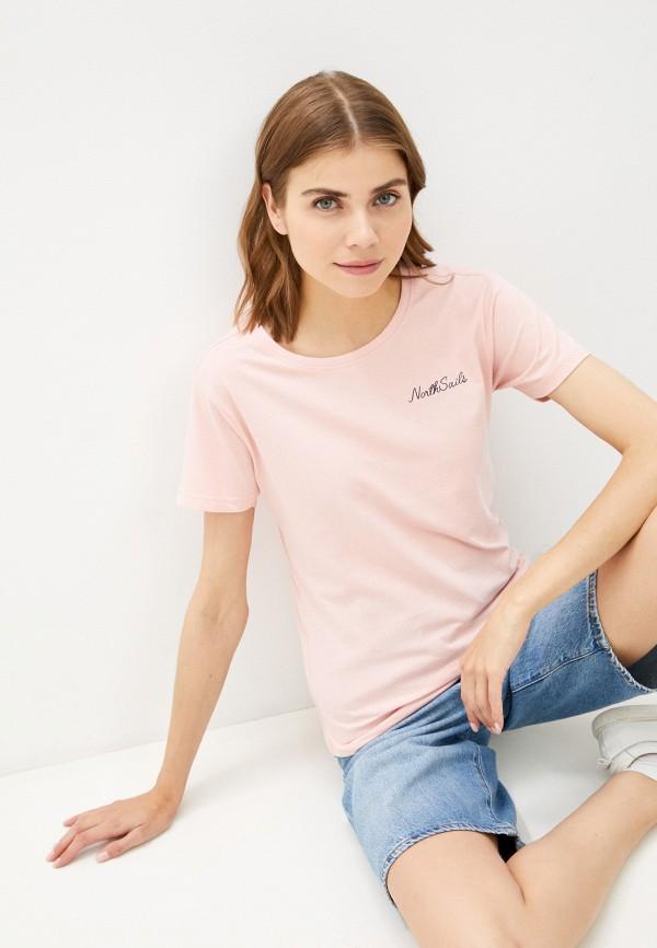 женская футболка north sails, розовая