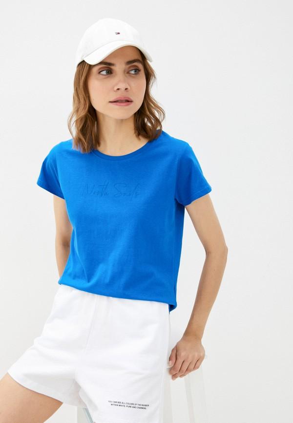 женская футболка north sails, синяя