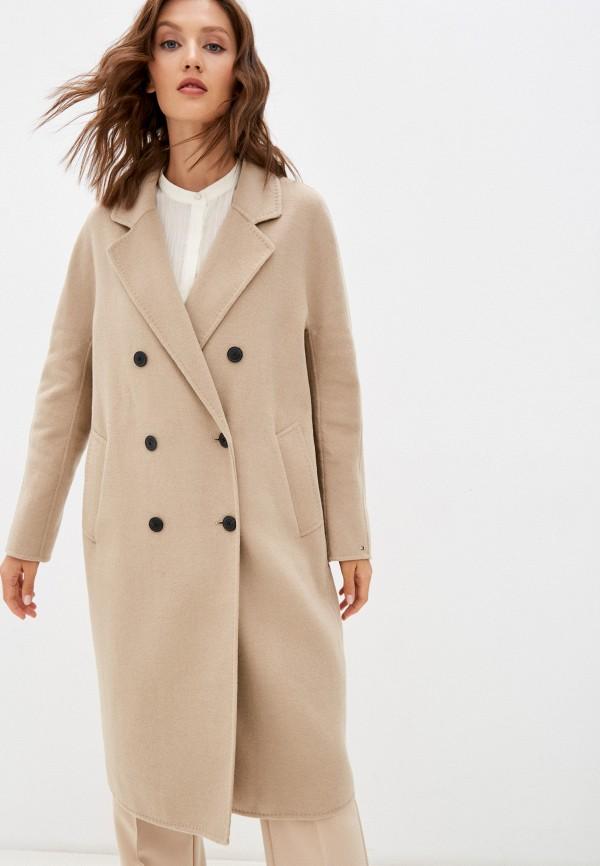 Пальто Tommy Hilfiger бежевого цвета