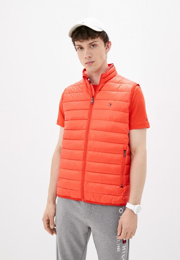 Жилет утепленный Tommy Hilfiger оранжевого цвета