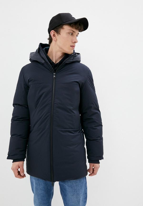 Куртка утепленная Tommy Hilfiger синего цвета