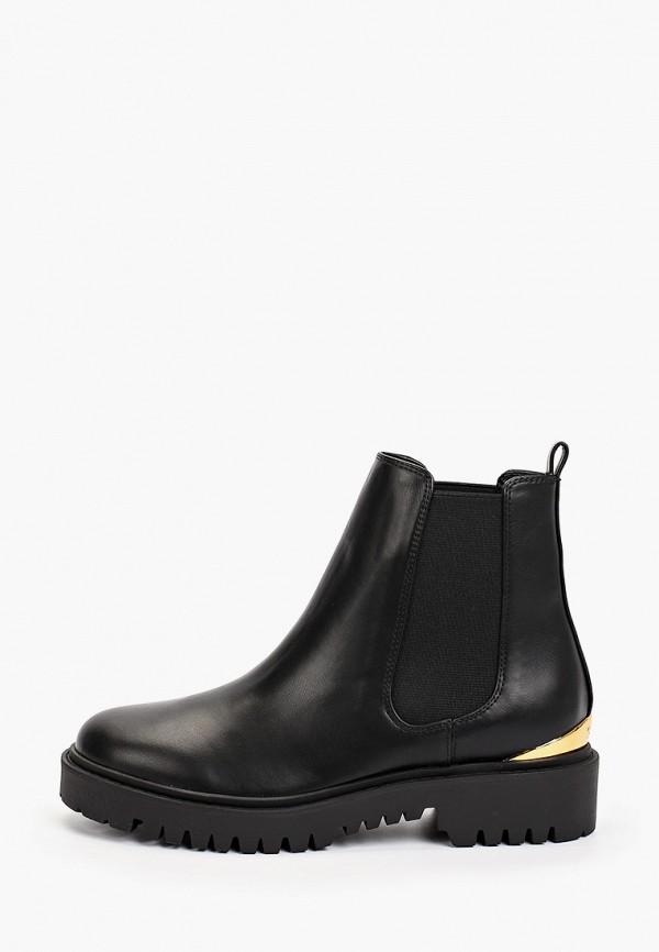 женские ботинки-челси guess, черные