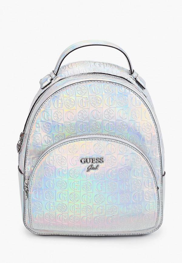 рюкзак guess для девочки, серебряный