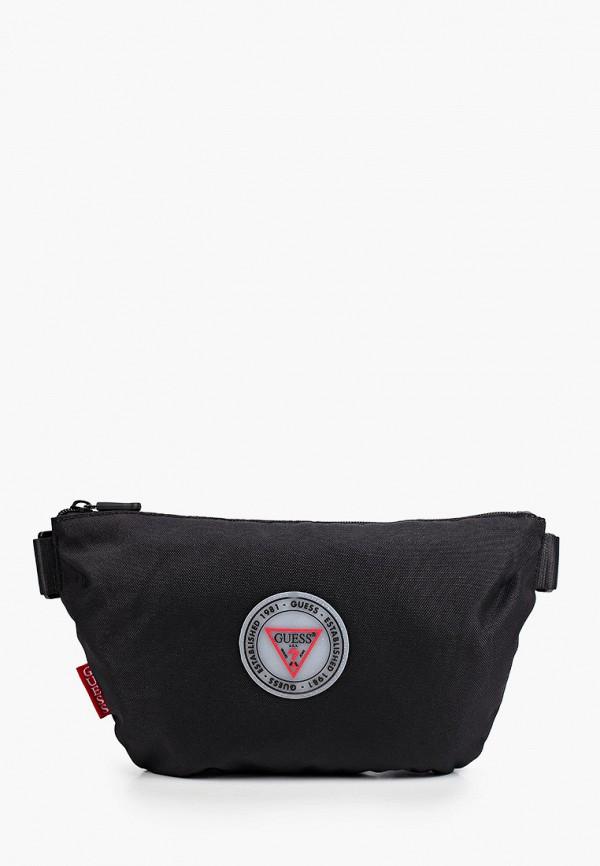 мужская поясные сумка guess, черная