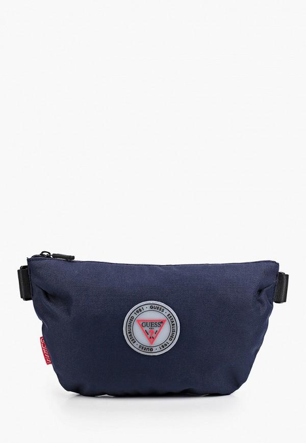 мужская поясные сумка guess, синяя