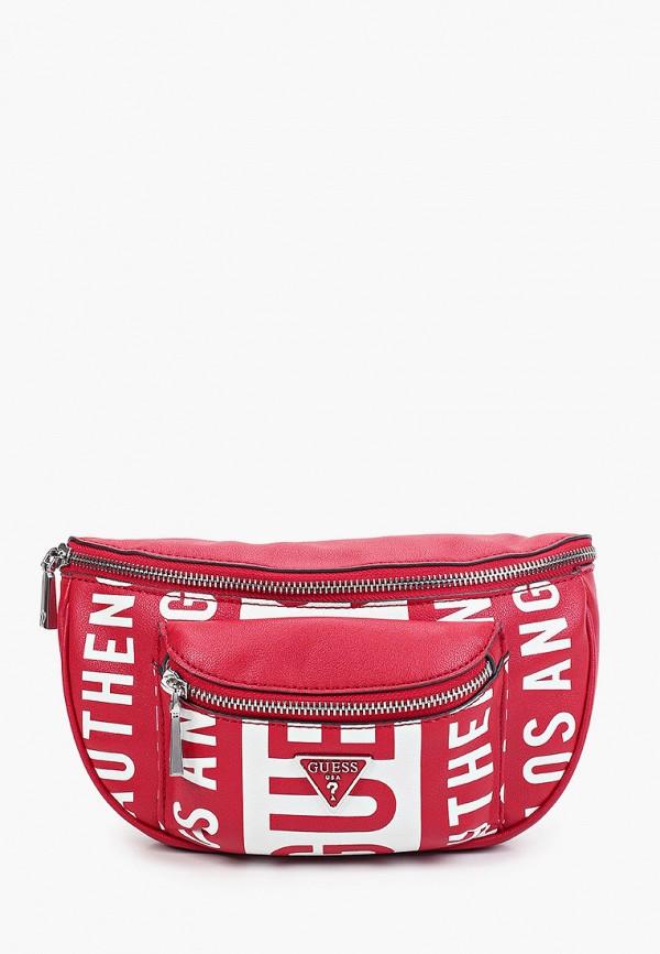 женская поясные сумка guess, красная