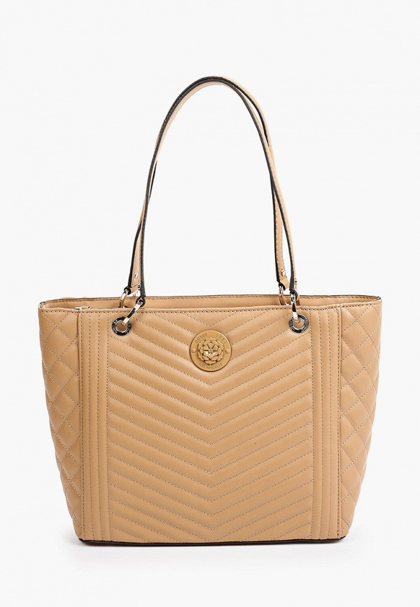 женская сумка-шоперы guess, бежевая