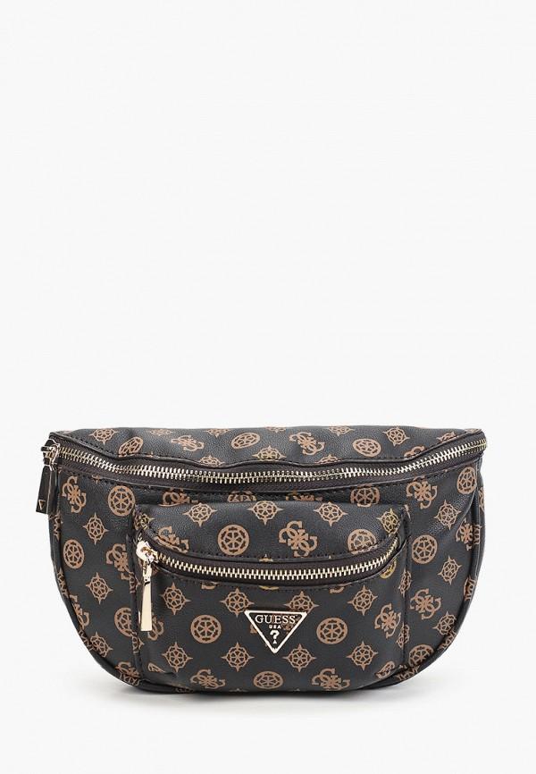женская поясные сумка guess, коричневая