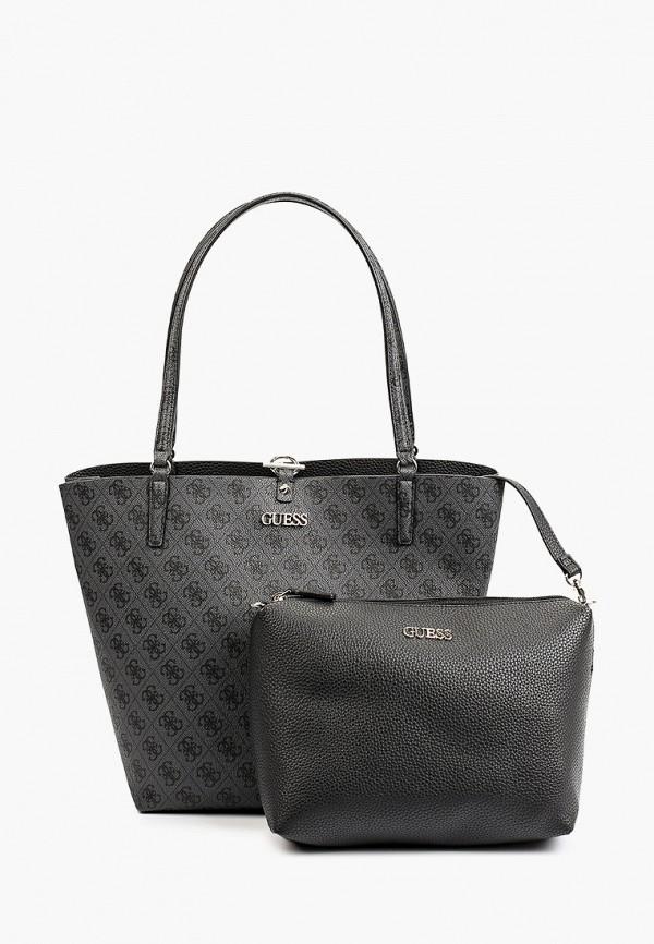 женская сумка-шоперы guess, серая