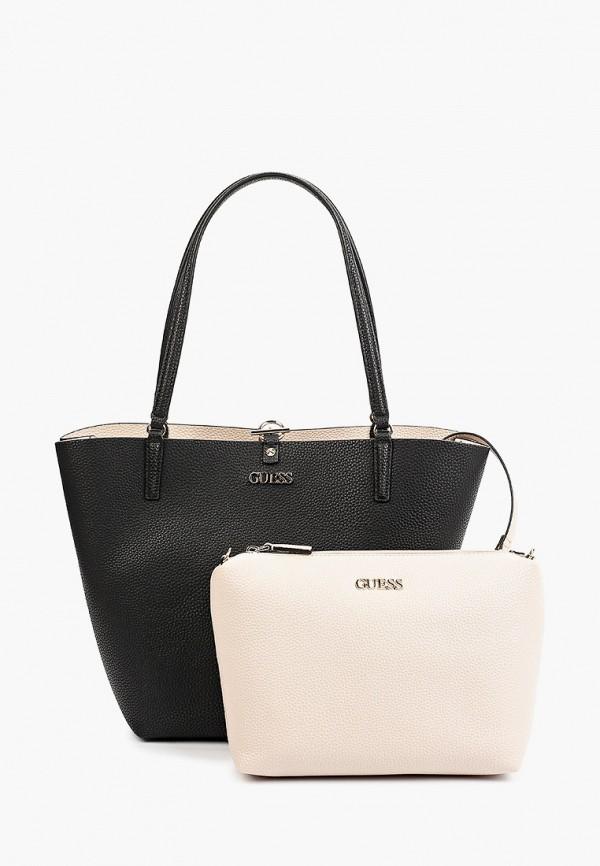 женская сумка-шоперы guess, разноцветная