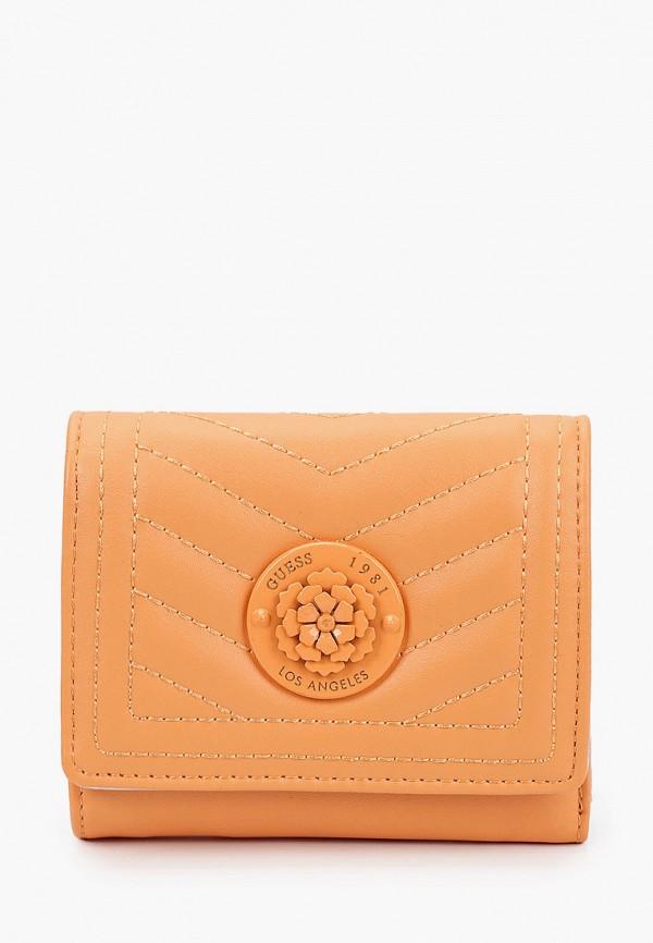 женский кошелёк guess, оранжевый