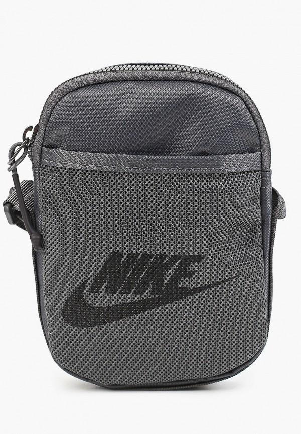 женская сумка через плечо nike, серая