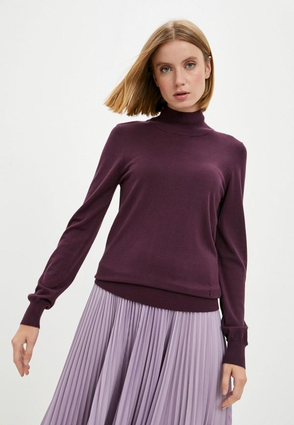 женская водолазка trussardi, фиолетовая