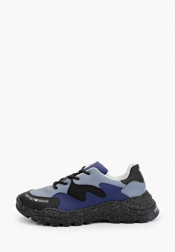 кроссовки emporio armani для мальчика, синие