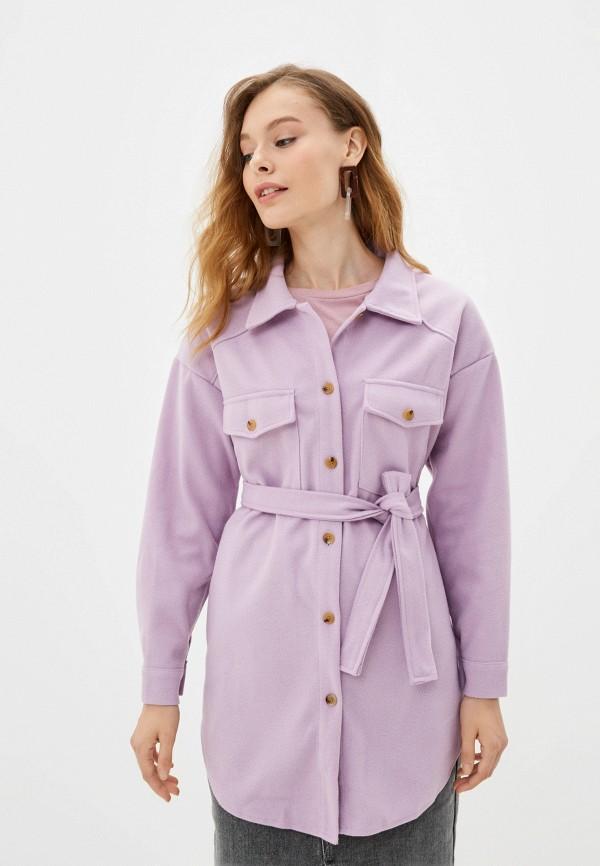 женское пальто elsi, фиолетовое