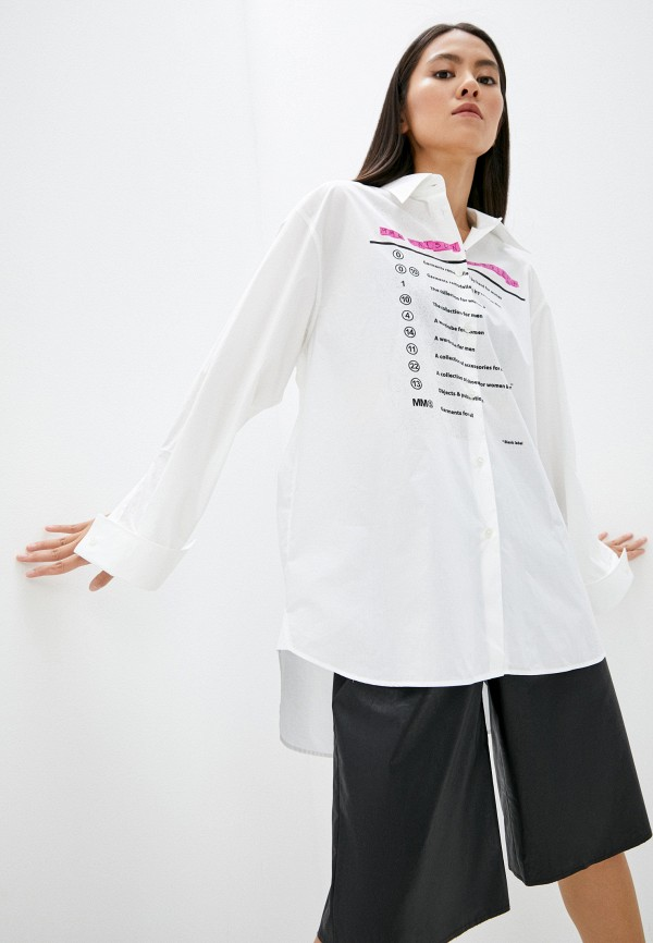 Рубашка MM6 Maison Margiela RTLAAM407701I400