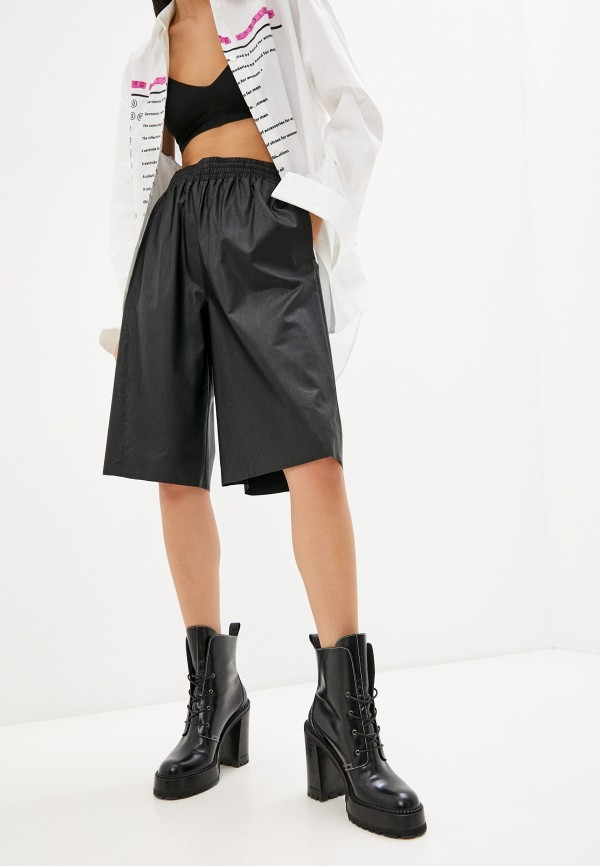 женские повседневные шорты mm6 maison margiela, черные