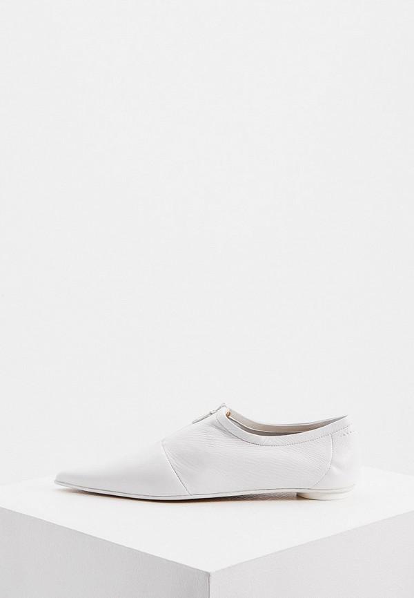 женские туфли с закрытым носом mm6 maison margiela, белые