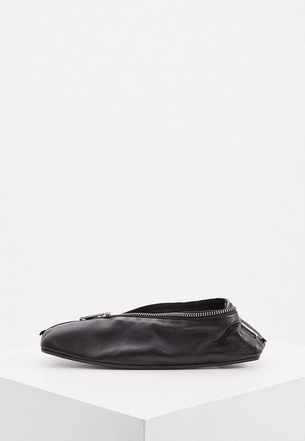 женские балетки mm6 maison margiela, черные