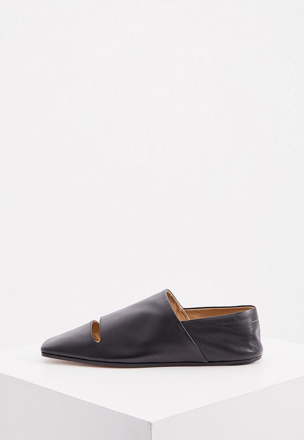 женские туфли с закрытым носом mm6 maison margiela, черные