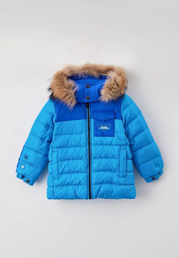 утепленные куртка poivre blanc для мальчика, голубая