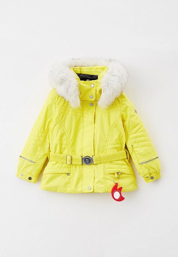утепленные куртка poivre blanc для девочки, желтая