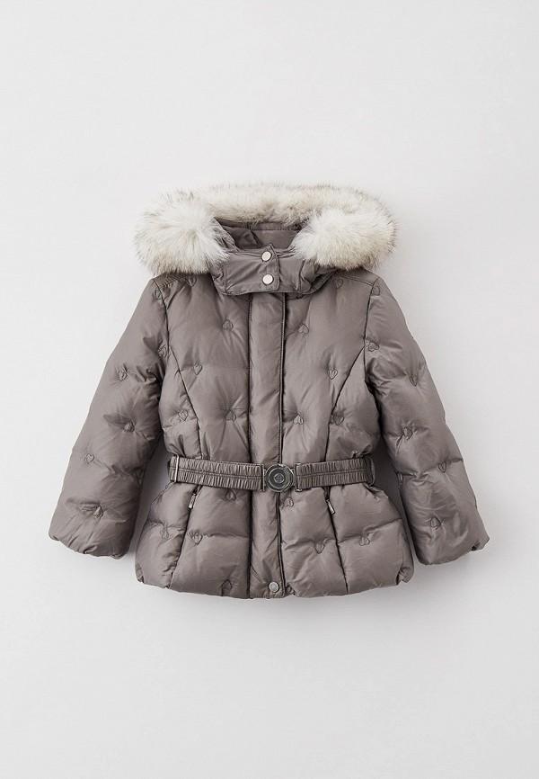 утепленные куртка poivre blanc для девочки, серая