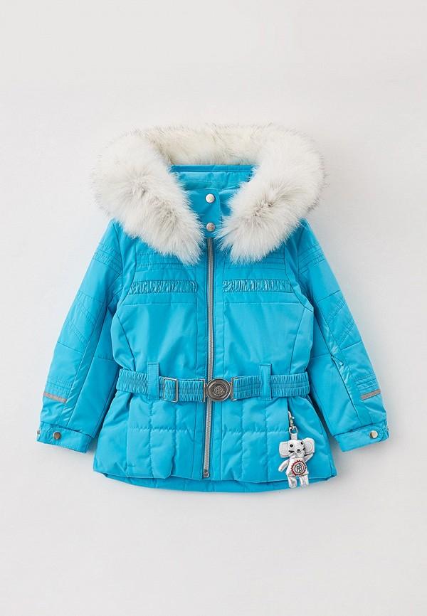 утепленные куртка poivre blanc для девочки, голубая