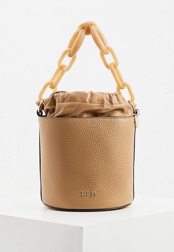 женская сумка с ручками red(v), коричневая
