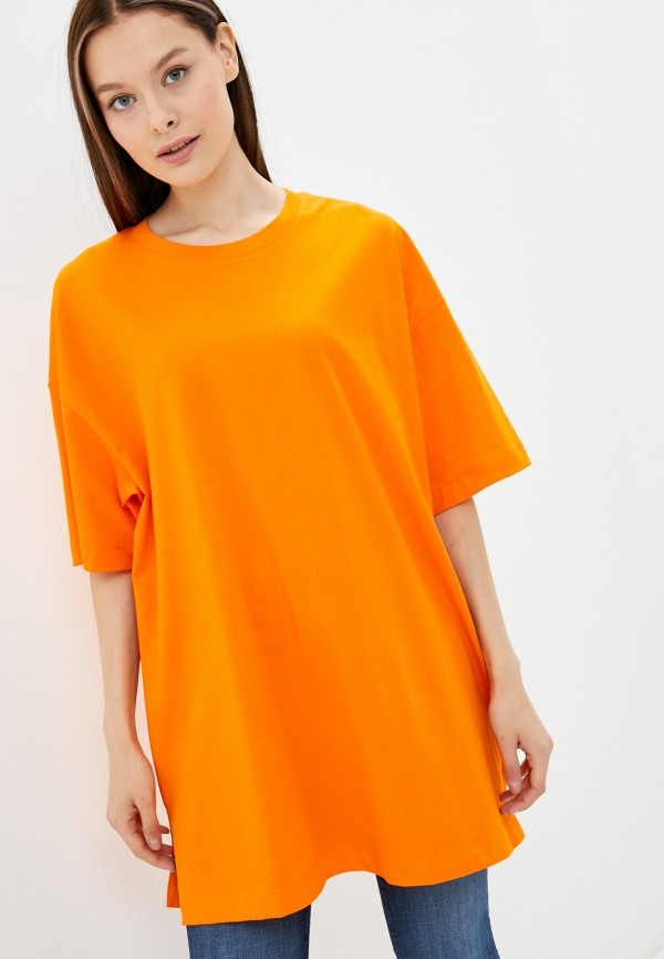 женская футболка pimkie, оранжевая