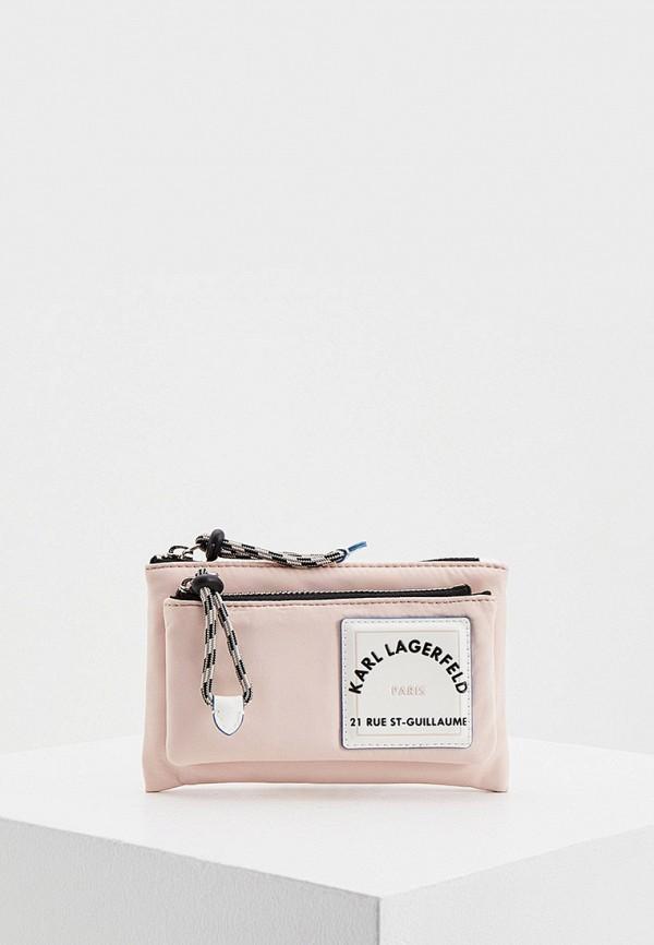 женский кошелёк karl lagerfeld, розовый