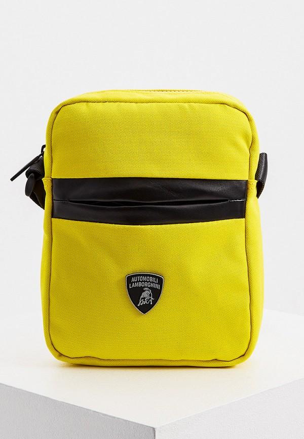 мужская сумка automobili lamborghini, желтая