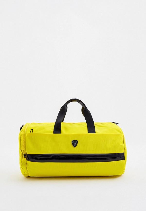 мужская спортивные сумка automobili lamborghini, желтая