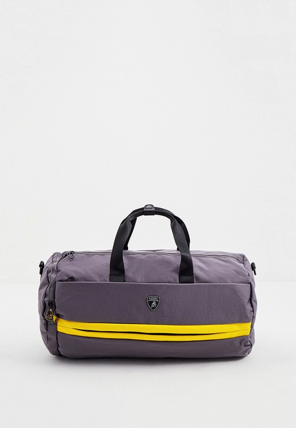 мужская спортивные сумка automobili lamborghini, серая