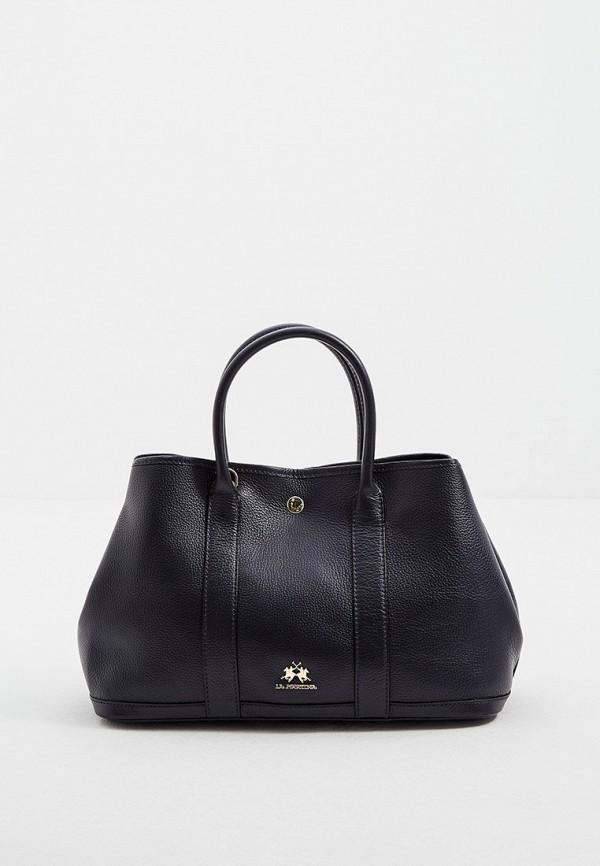 женская сумка с ручками la martina, синяя