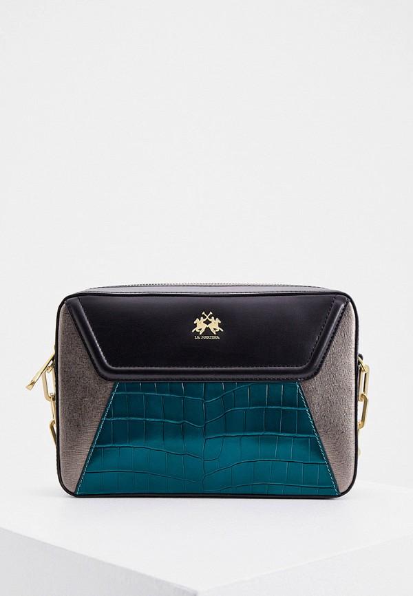 женская сумка через плечо la martina, разноцветная