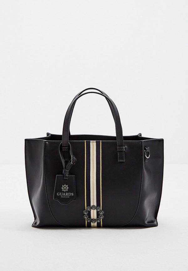 женская сумка с ручками la martina, черная