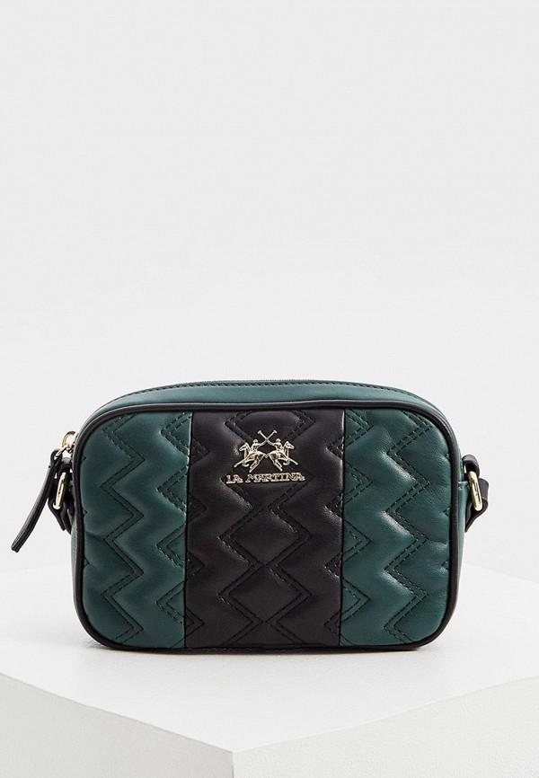 женская сумка через плечо la martina, зеленая