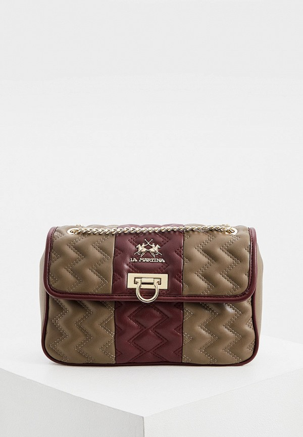 женская сумка через плечо la martina, коричневая